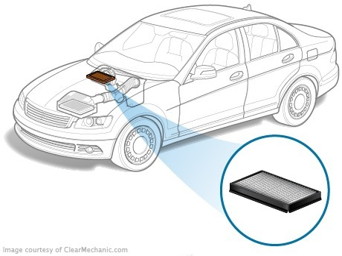 Замена салонного фильтра на Opel Astra J