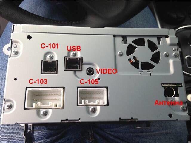 Извлечение стандартной магнитолы Mitsubishi ASX