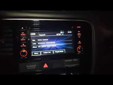 Просмотр видео в движении на штатной мультимедийной системе Mitsubishi ASX