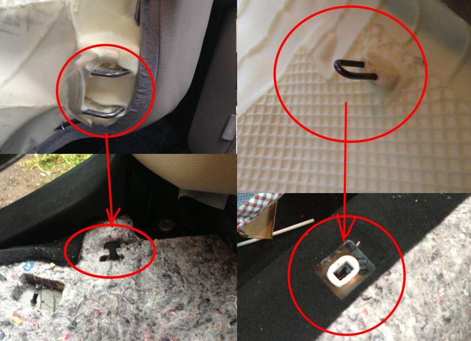 Демонтаж заднего сиденья Opel Astra J