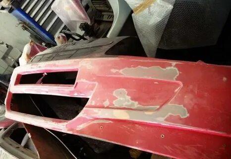 Ремонт трещин в бампере Mitsubishi Lancer X