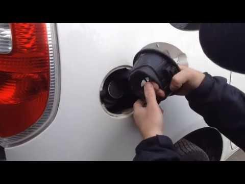 В мороз не открывается лючок бензобака VW Passat B7