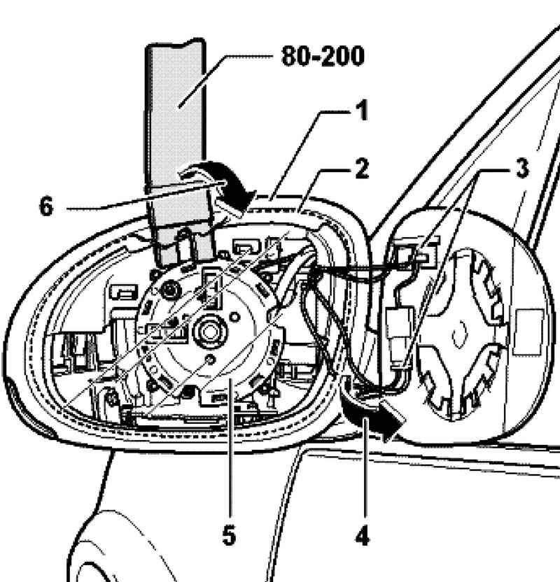 Демонтаж зеркального элемента бокового зеркала VW Passat B7 фото