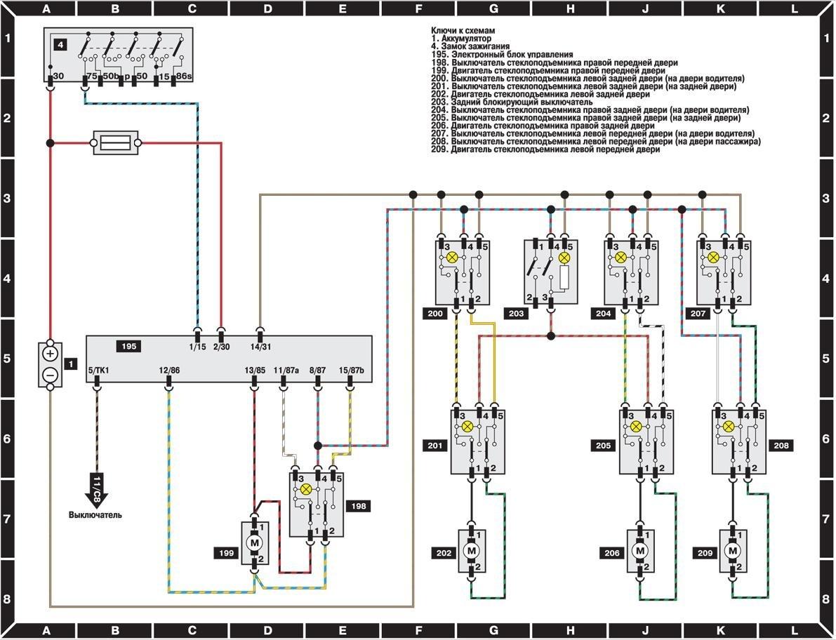 Не срабатывает авторежим стеклоподъемника на VW Golf VI