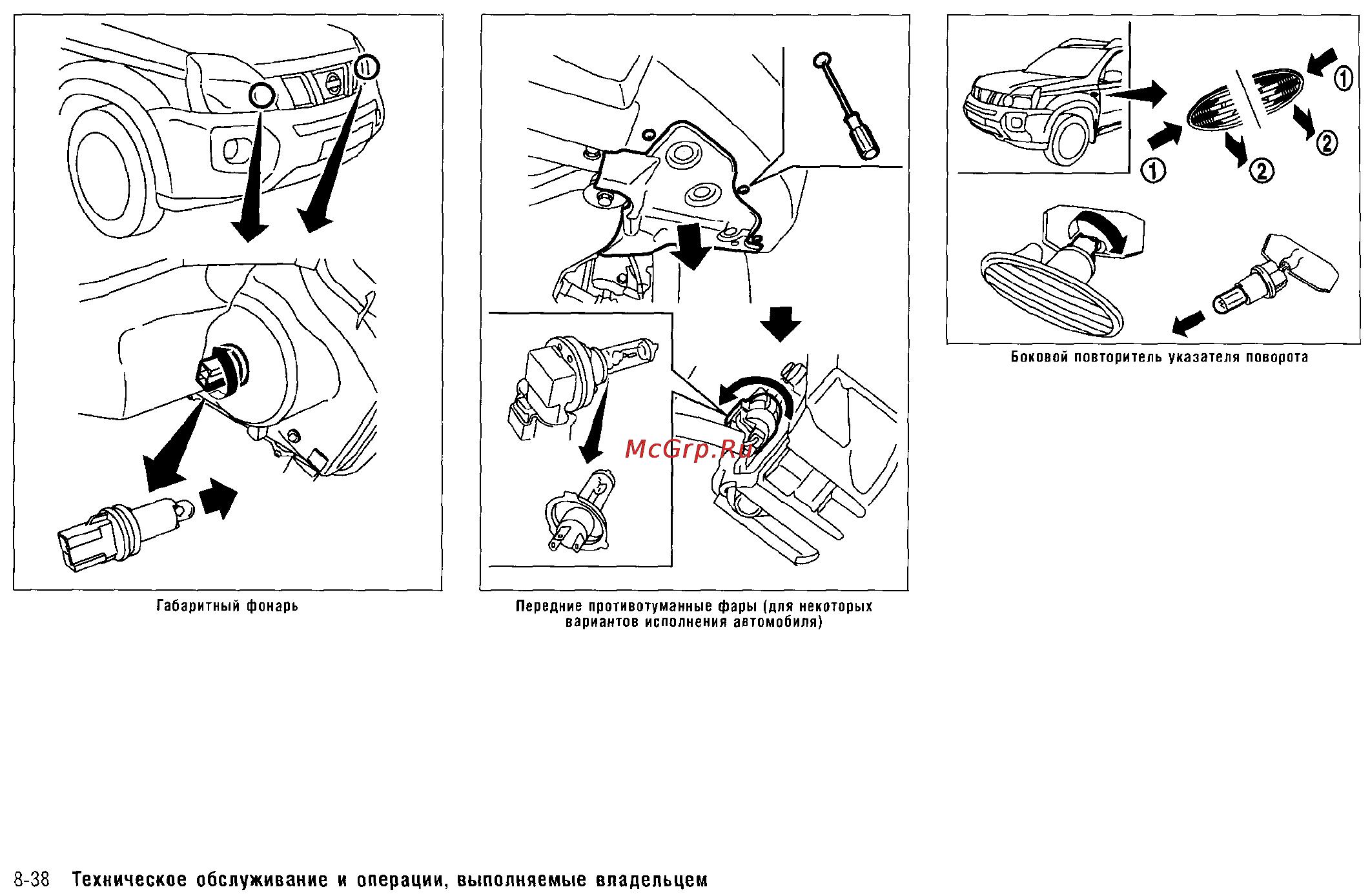 Демонтаж омывателя фары Nissan X-Trail II фото