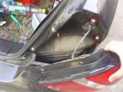 Как снять задний фонарь Chevrolet Aveo