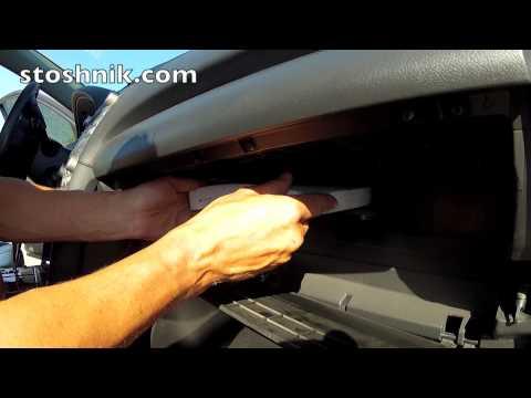 Как заменить салонный фильтр в Toyota Camry