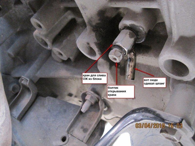 Замена охлаждающей жидкости в Toyota Camry VII