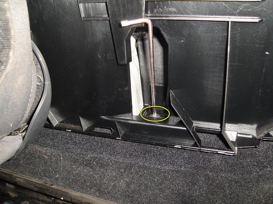 Оригинальный набор для установки ящика под сиденье Volkswagen Jetta VI
