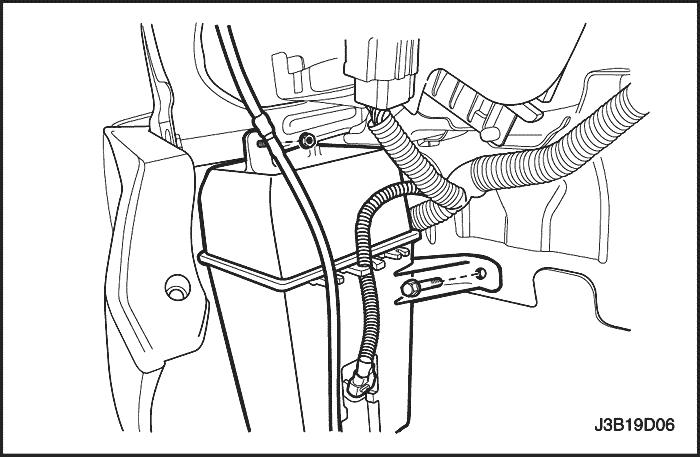 Как устанавливается обратный клапан в магистраль омывателя заднего стекла Renault Megane III