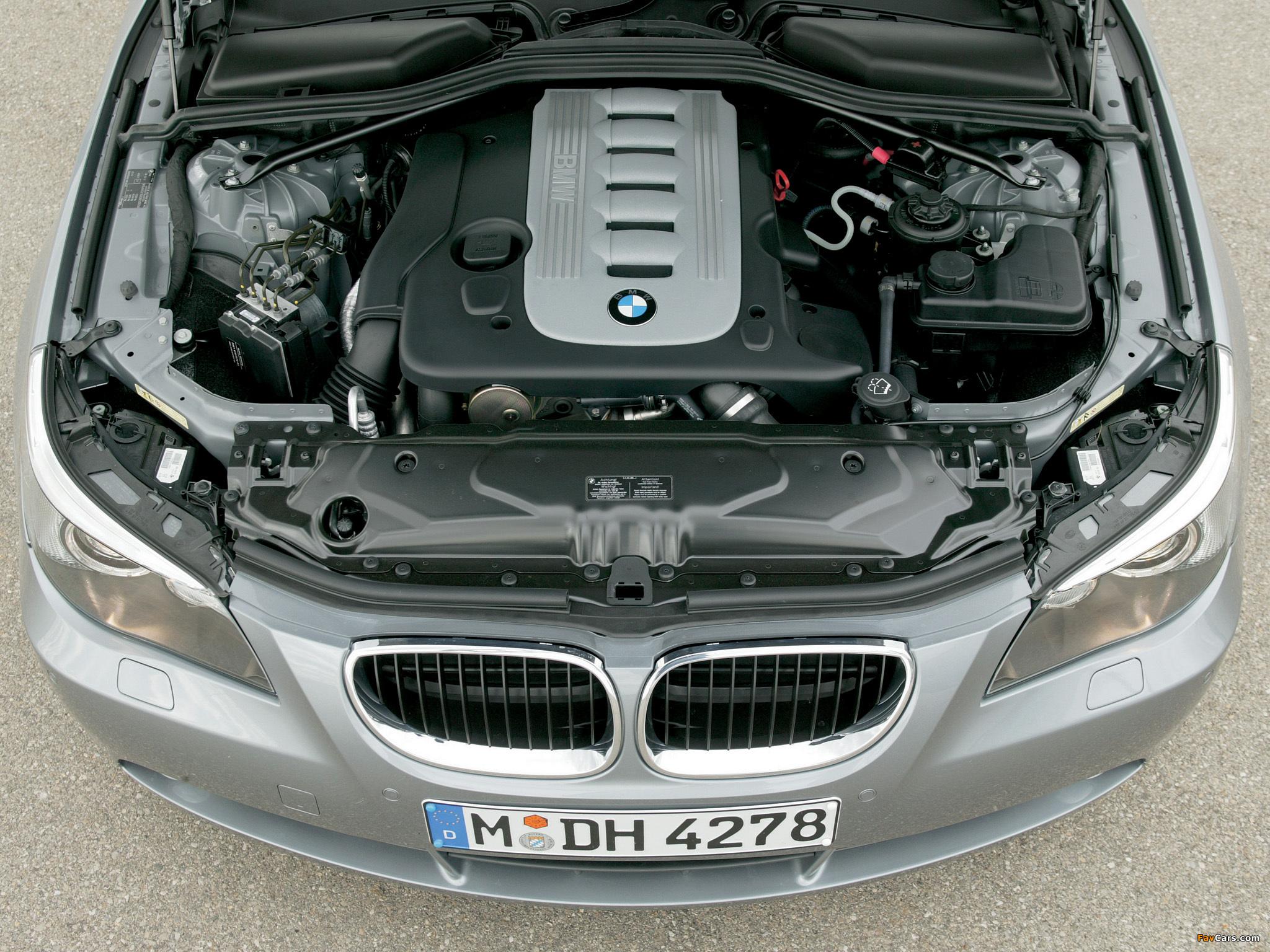 Какая линейка двигателей в дорестайлинговой версии BMW 5 E60