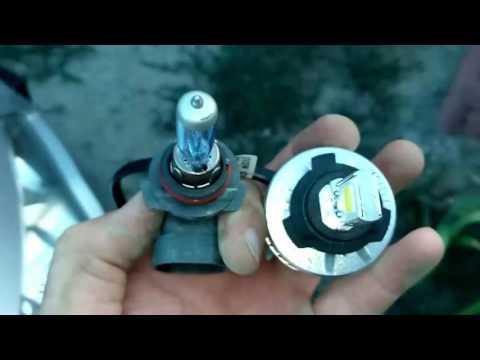 Замена ламп ближнего и дальнего света на Ford Fusion