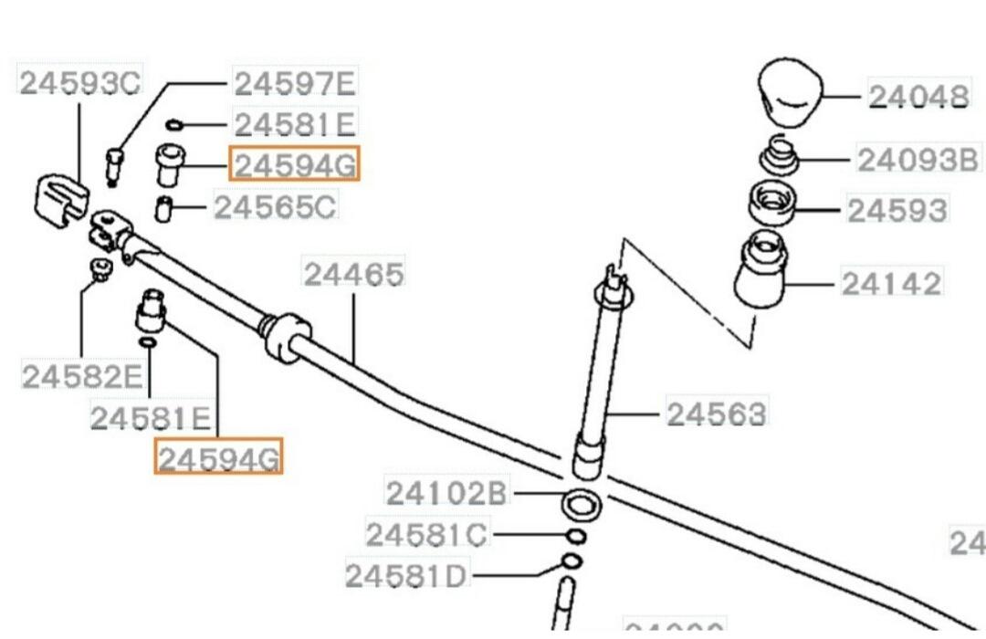 Установка короткоходной кулисы КПП на Mitsubishi Lancer 9