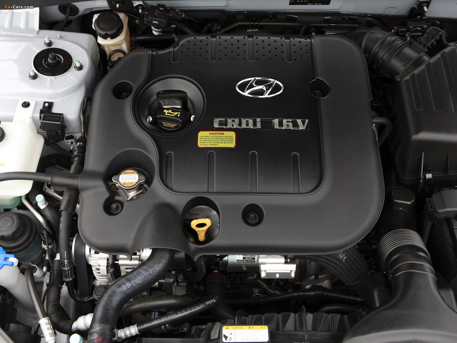 Вибрирует защитная крышка двигателя Hyundai Sonata NF