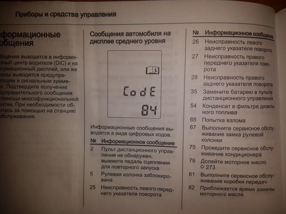 Бортовой компьютер Chevrolet Niva показывает попеременно разные ошибки