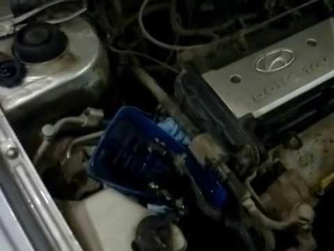 Замена жидкости гидроусилителя в Hyundai Getz