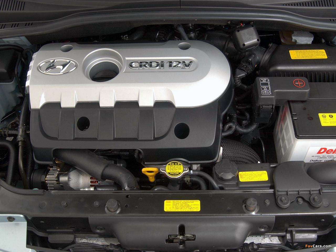 Установка пыльника двигателя на Hyundai Getz