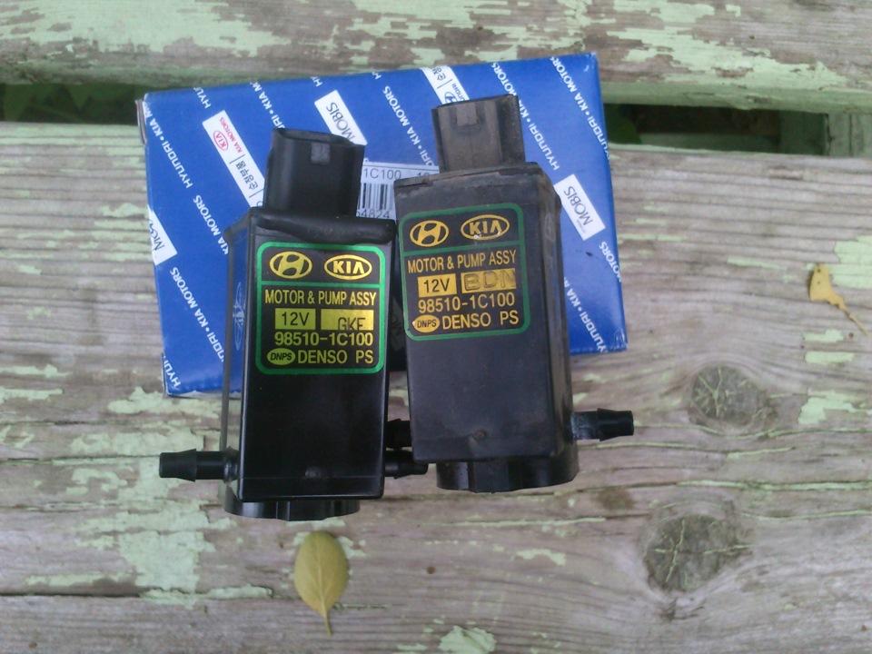 Доработка омывателя стекла на Hyundai Getz