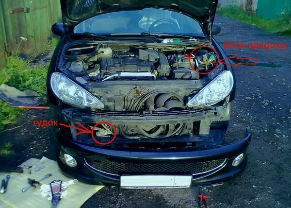 Причины нарушения работы звукового сигнала на Peugeot 206