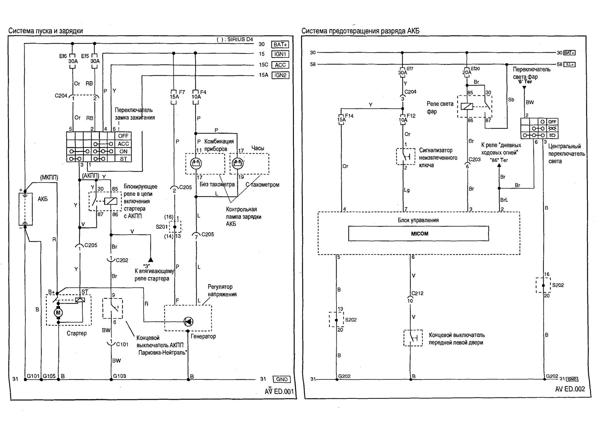 Подключение тахометра на Chevrolet Spark