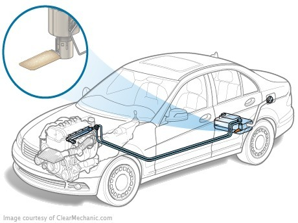 Замена топливного фильтра на дизельном Chevrolet Captiva