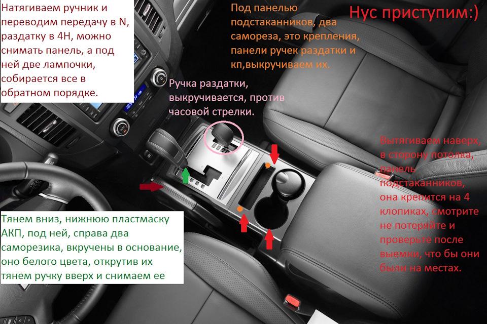Снятие приборной панели на Mitsubishi Pajero 3