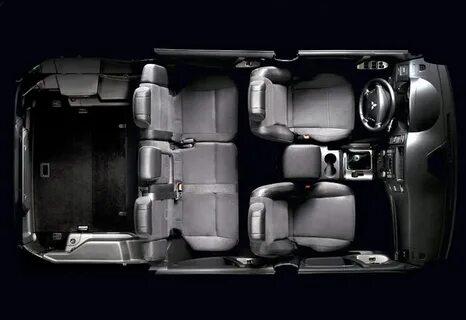 Складывание сидений третьего ряда на Mitsubishi Pajero 4