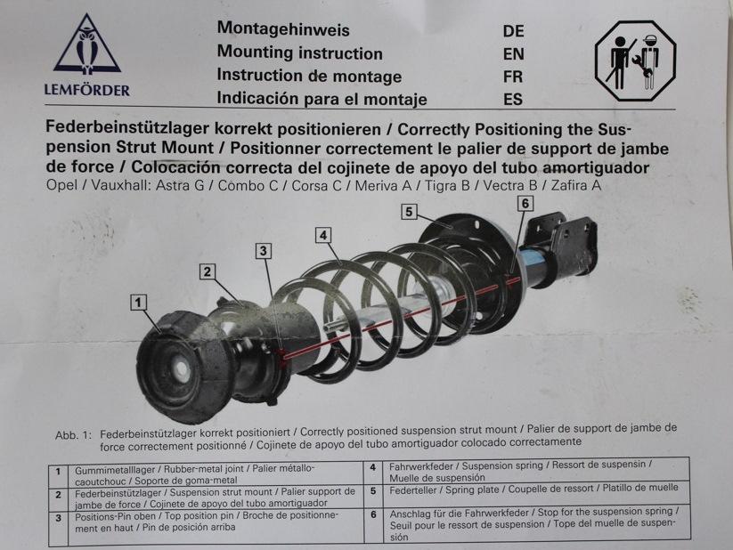 Замена передних амортизаторов на Opel Vectra С