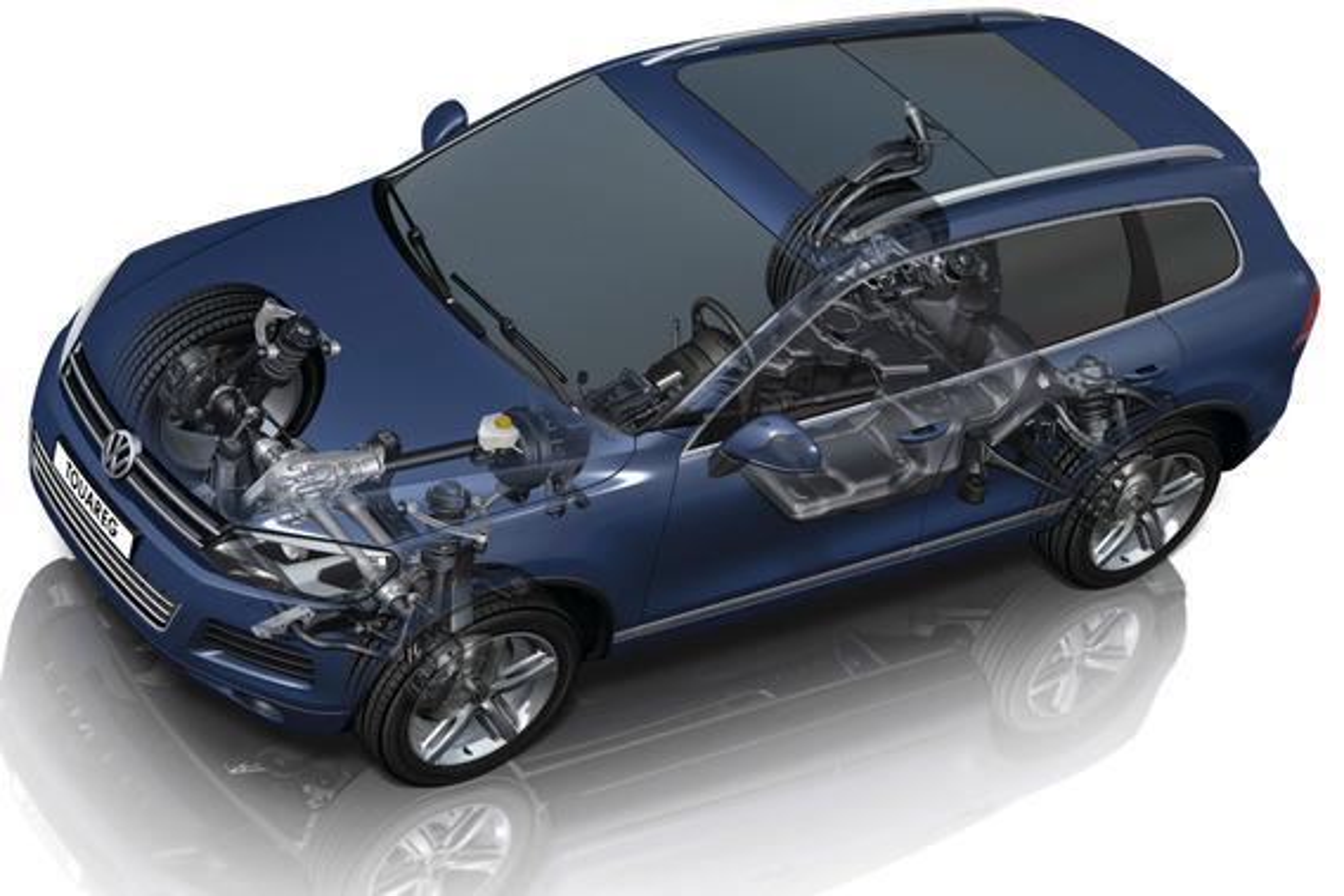 Регулировка подвески на Volkswagen Touareg II (NF)