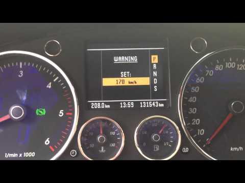 Настройка предупреждения о превышении скорости на Volkswagen Touareg II (NF)
