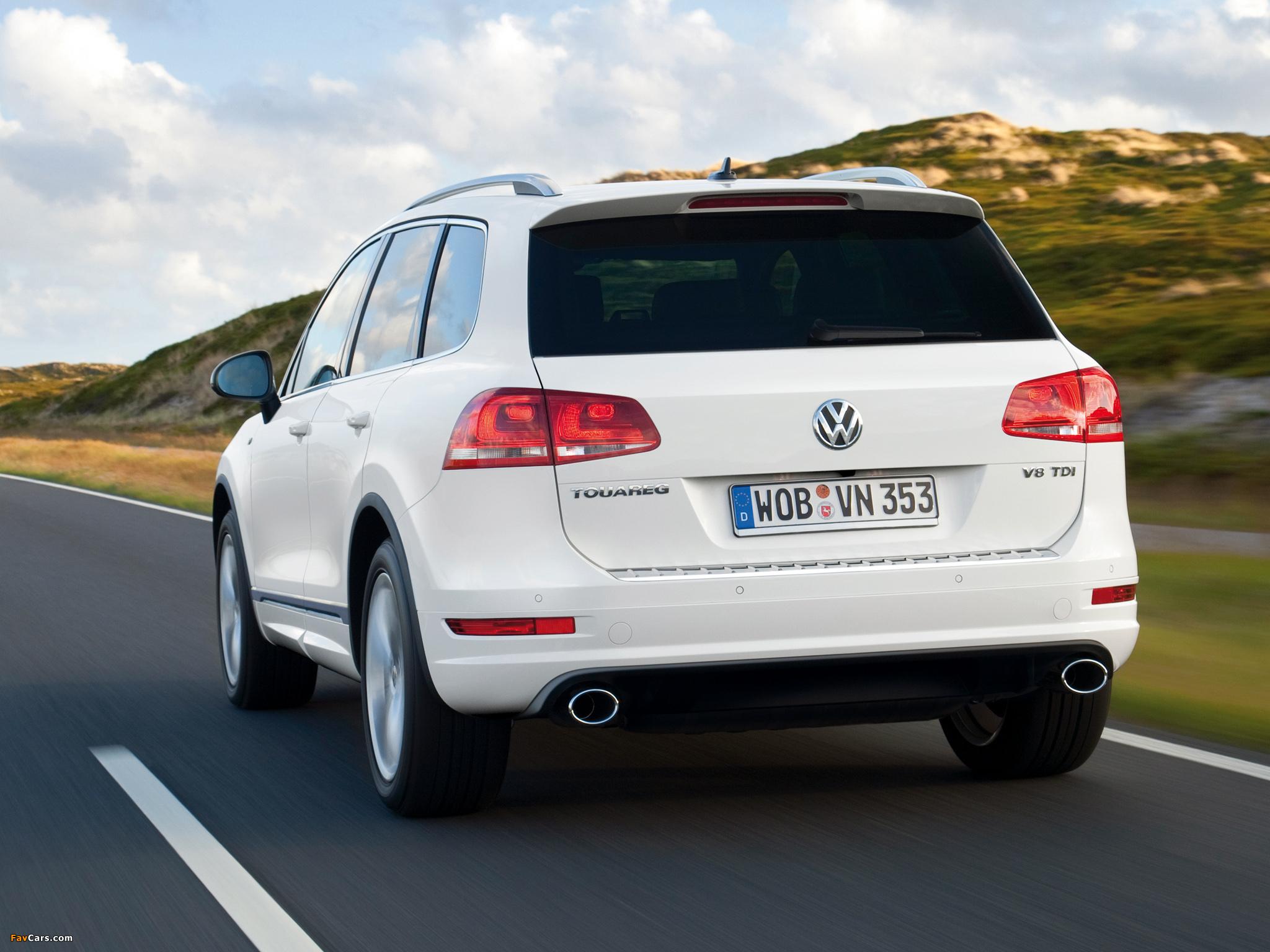 Открывание двери багажника Volkswagen Touareg II (NF) с системой бесключевого доступа