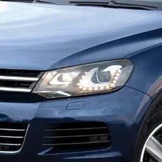 Замена ламп ближнего света на Volkswagen Touareg II (NF) фото