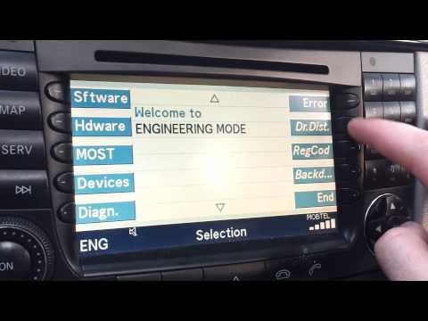 Застрял CD-диск в магнитоле Mercedes E-Class (W211), на экране сообщение «ERROR CD»