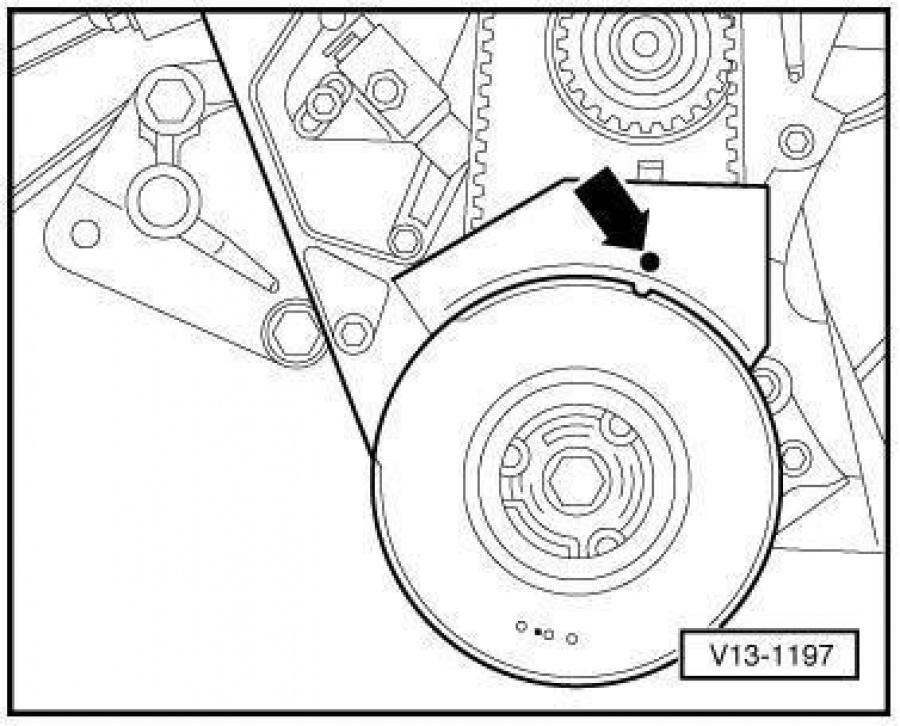 Как провернуть коленвал на Audi 100 C4?