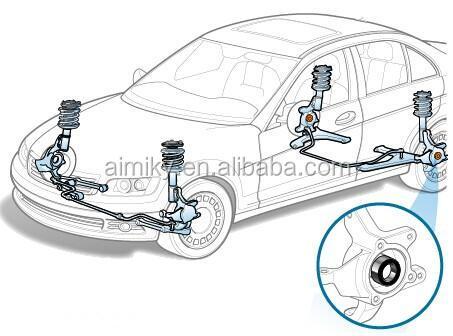 Регулировка задних ступичных подшипников на Audi 100 C4