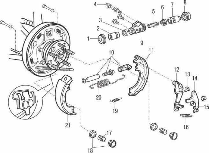 Регулировка задних дисковых тормозов на Audi 100 C4
