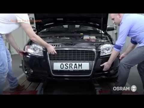 Установка защитной сетки радиатора на Audi А4 В8