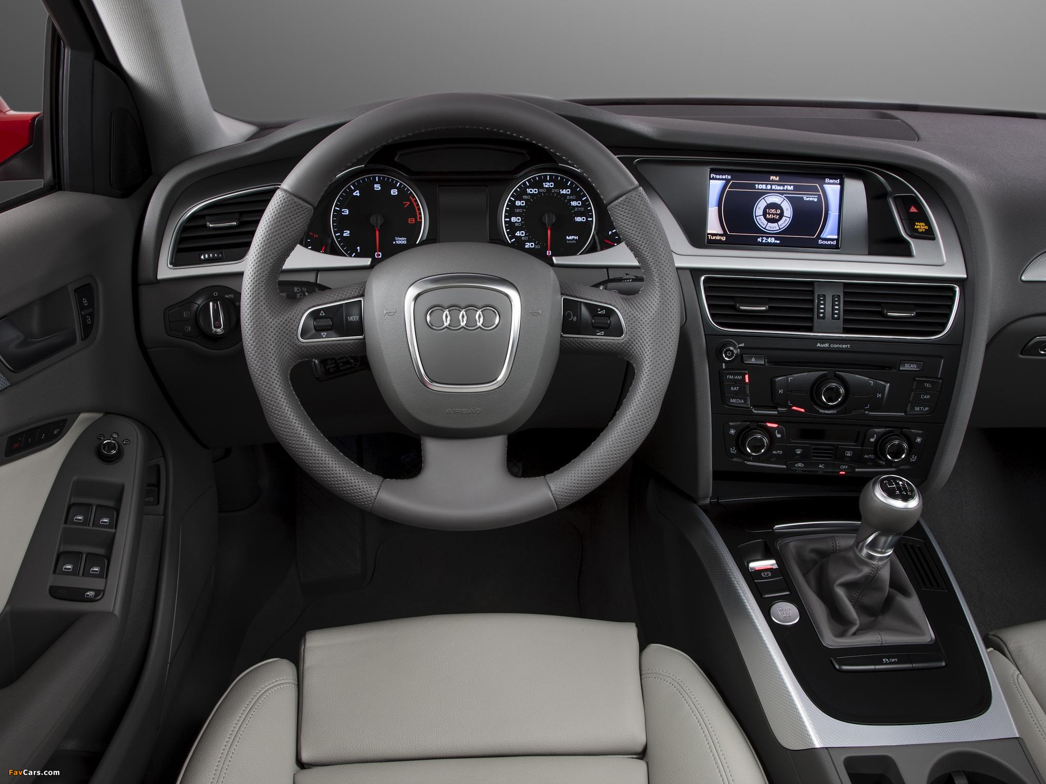 Режимы головного устройства MMI на Audi А4 В8