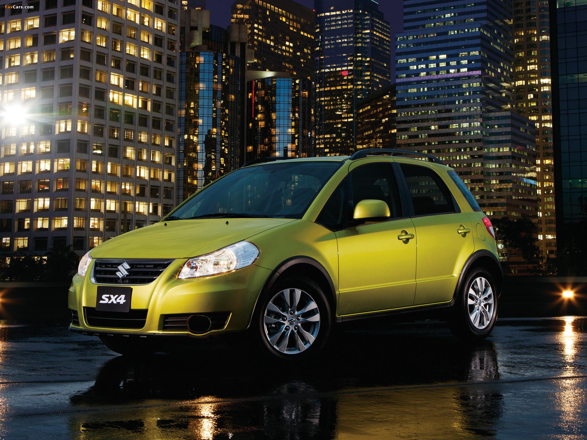Коды цветов кузова Suzuki SX4