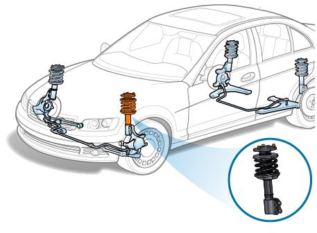 Снятие передней амортизационной стойки на BMW 1-Series Е87