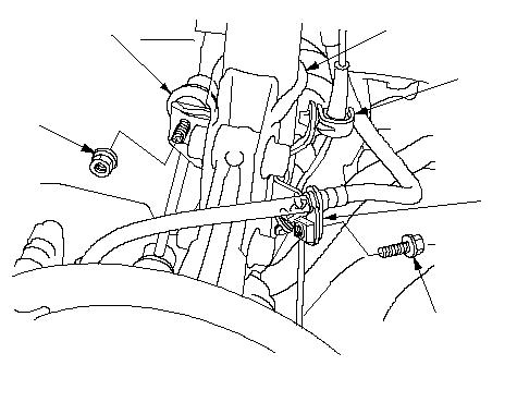 Снятие и установка отводящего шланга отопителя на Honda Civic VIII
