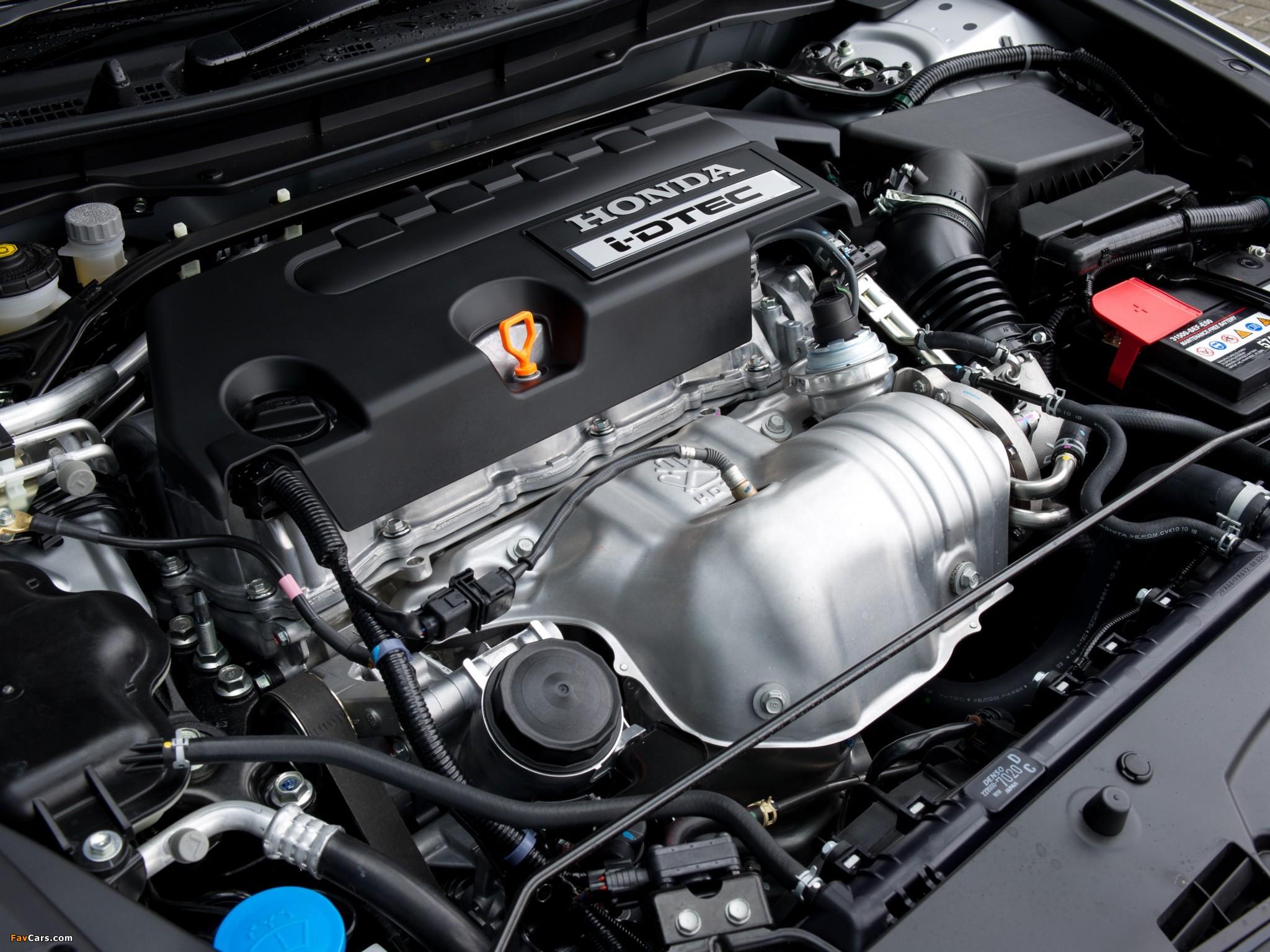 Заправочная емкость двигателя R18A на Honda Civic 8