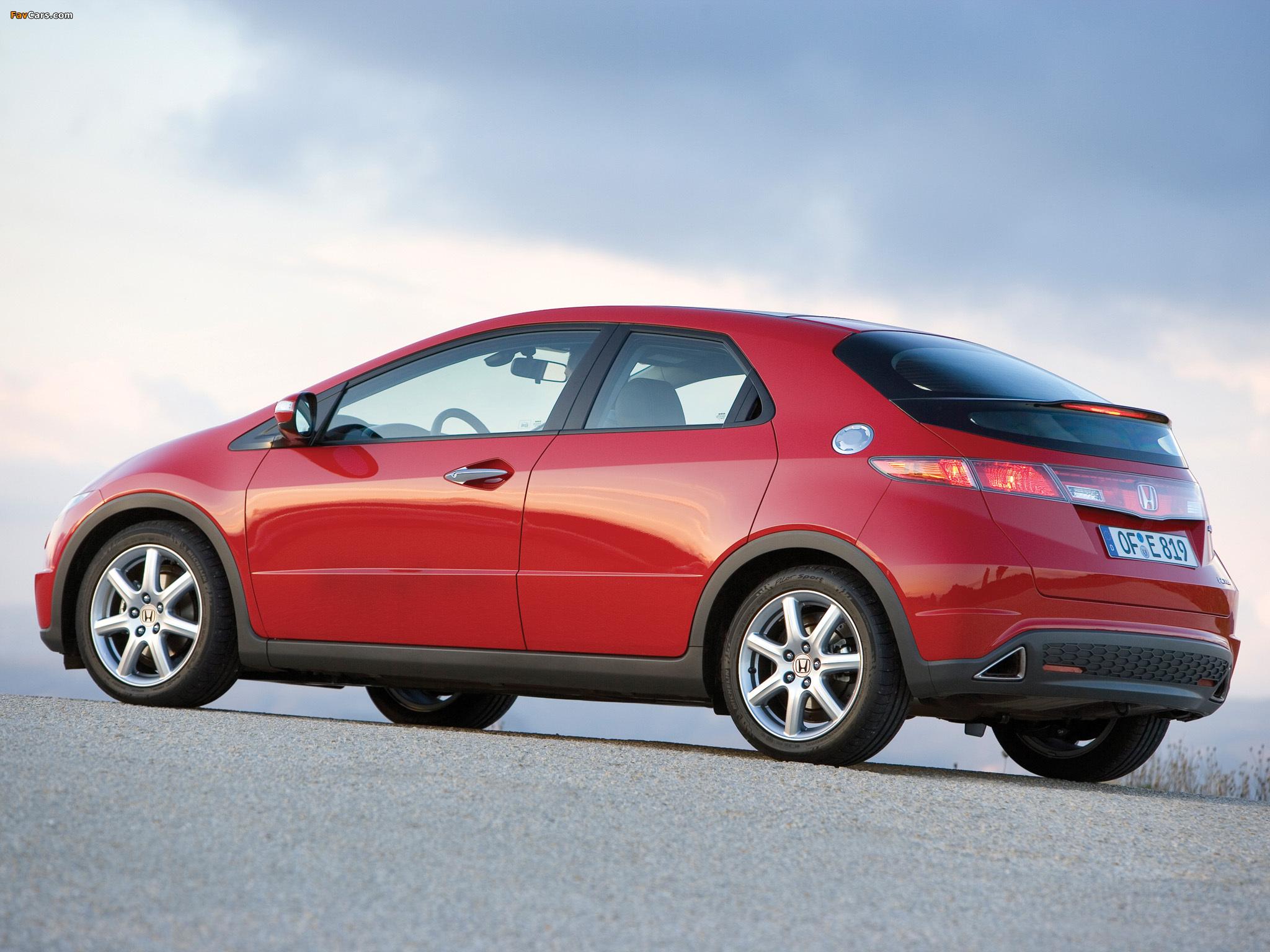 Цвета кузова (5d) на Honda Civic 8