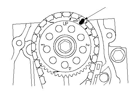 Снятие и установка звездочки распределительного вала (R18A) на Honda Civic 8