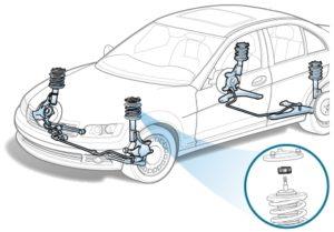 Демонтаж и монтаж амортизационной стойки на Ford Mondeo III