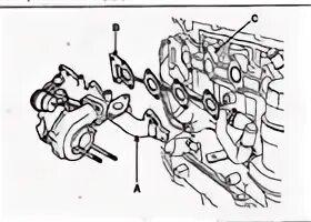 Демонтаж выпускного коллектора на Mazda 3 (I)