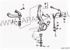 Замена шаровой опоры переднего поворотного кулака на Citroen C4