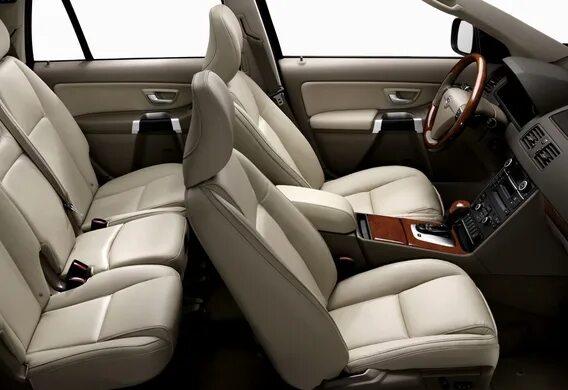 Откидывание спинки переднего кресла на Volvo XC90