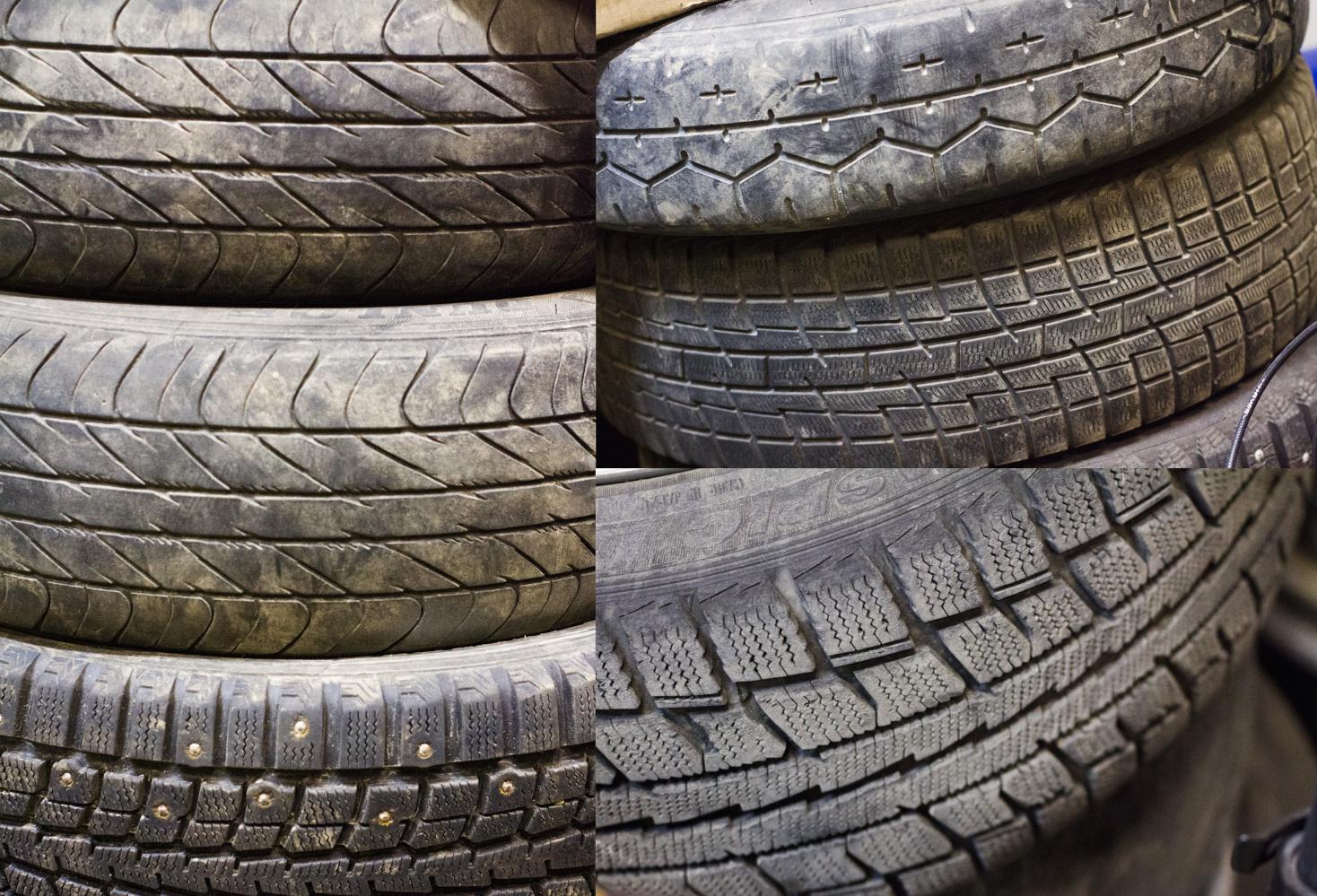 Виды износа протекторов шин на Citroen C4