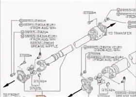 Крестовины переднего карданного вала на Infiniti FX35/45 (1gen)